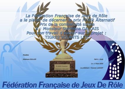 """JDRA 2009: """"Prix de la combativité suisse"""""""