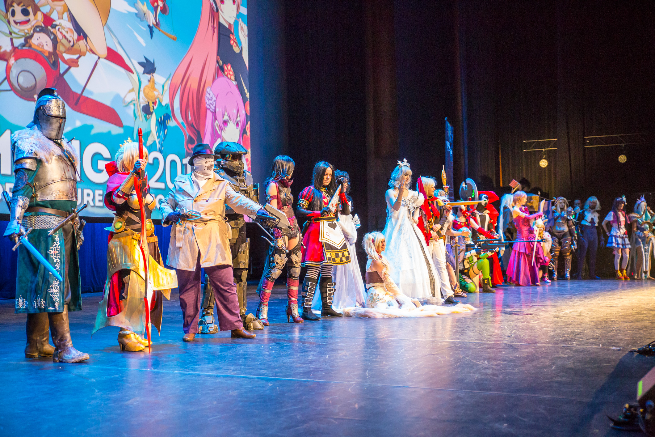 Polymanga 2016, 25-28 mars 2016, Montreux (Suisse). Concours cosplay individuel du samedi 26 mars.