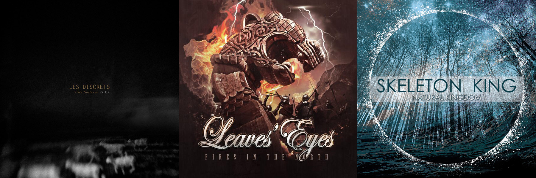 Les Discrets / Leaves' Eyes / Skeleton King