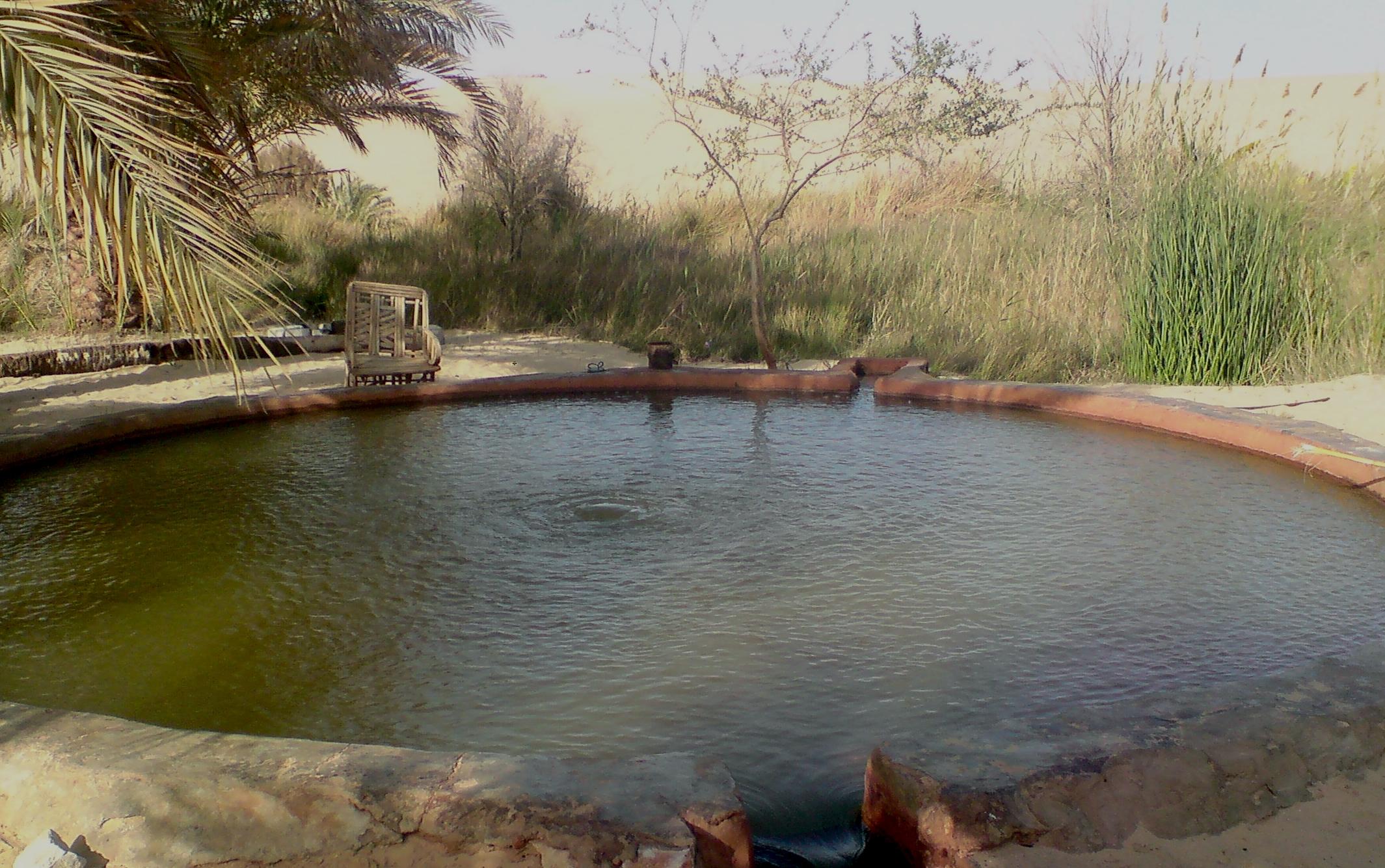 Source chaude près de Siwa