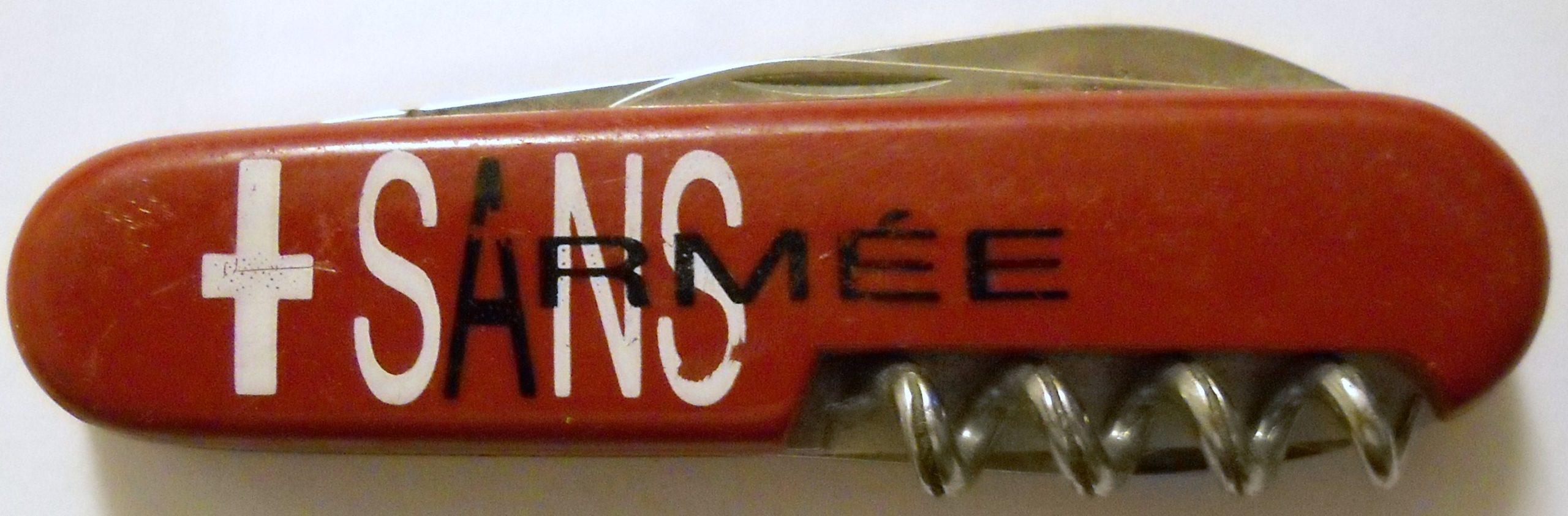 """Couteau """"Suisse sans armée"""""""