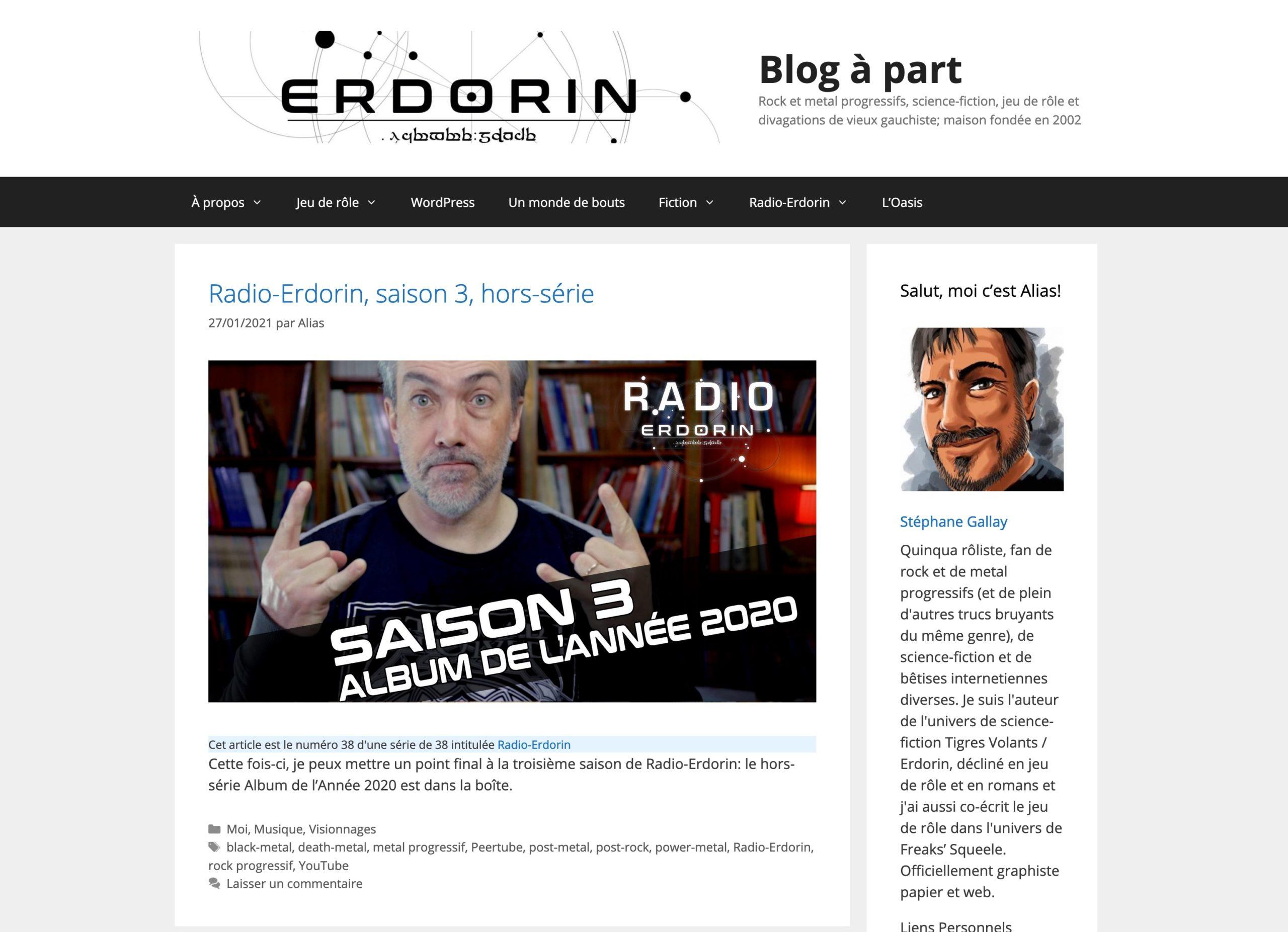 Blog à part 2021